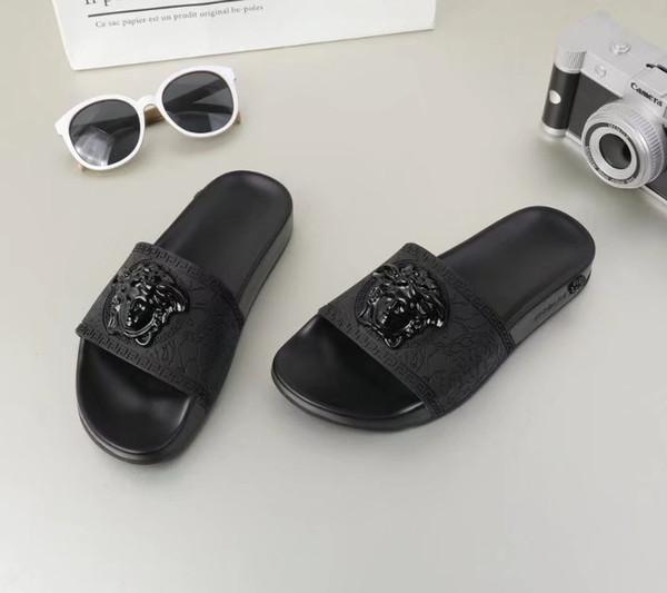 2018 europa marca top grade sandali moda causale amanti estate huaraches pantofole infradito donna uomo pantofola migliore qualità