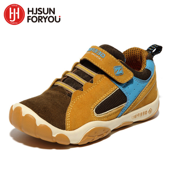 2019 Genuine Leather Children Shoes Size 28-40 Waterproof Kids Sneakers Breathable Girls And Boys Sports Shoes Outdoor Trainers Y19051303