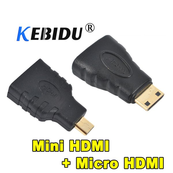 Kebidu 1set Mini HDMI To HDMI Adapter Female To Male Converter For HDMI HD 1080P Cable Adapter Device For HDTV For Xbox