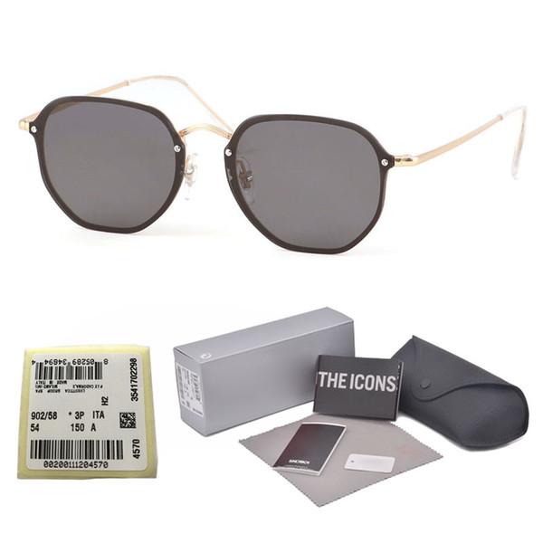 New Trend frameless Sunglasses Women Vintage Brand Designer Womens Sun glasses Square Irregular Eyewear Pink Shades Female with case and box