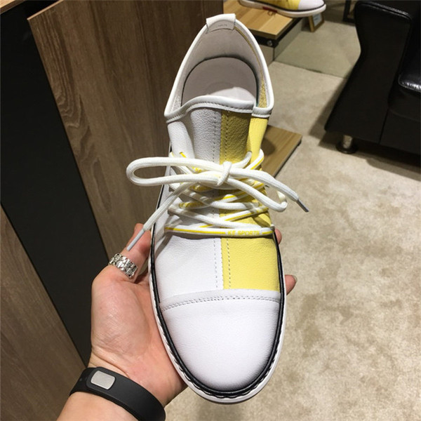 Дизайнер повседневная обувь Мода тенденция дизайнер мужская одежда дизайнер 2019 модный бренд мужская повседневная обувь