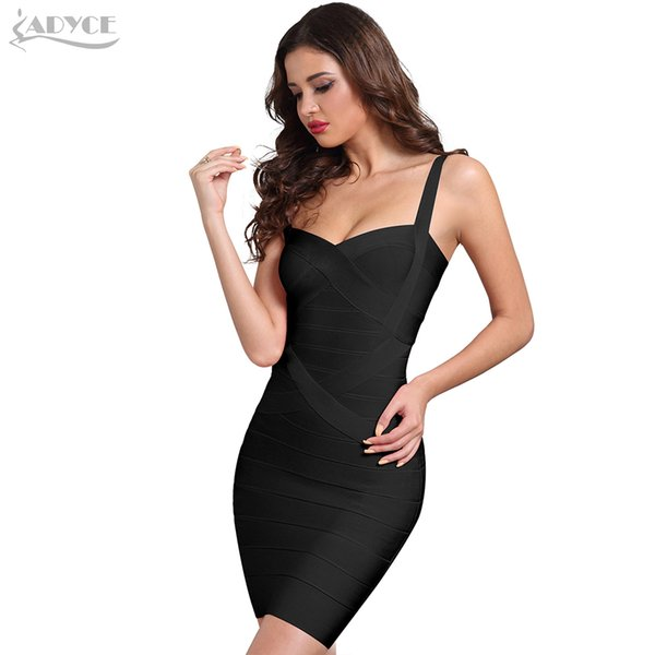 Adyce Women Bodycon Bandage Dress Vestidos Verano 2019 New Yellow Black Pink White Blue Sexy Lady Dance Runway Club Party Dress T190411
