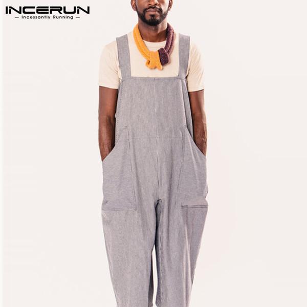 Moda Erkekler Kadınlar Tulum Geniş Bacak Pantolon Tatil Kaba Pamuklu Tulumlar Uzun Tulumlar Tulum Femininas Hombre Pantalon