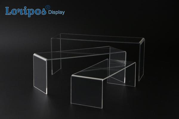3pcs/lot Clear Acrylic Shoe Display Rack Holder Wallet Rack Jewelry Display Stand U Acrylic Stand Display Shelf Handbag Holder