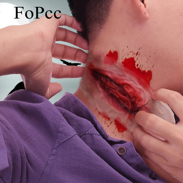 New Design Silicone Bite Scars Halloween Festival Masks Neck Bite Wound Horror Mask Party Halloween Costume Party Cosplay Supplies