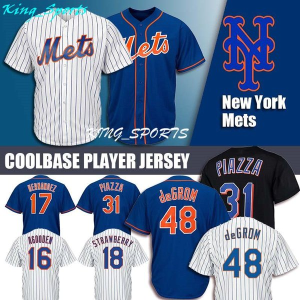 low priced cbc83 009b6 2019 New York Mets Majestic Coolbase Jersey 48 Jacob DeGrom Jersey 34 Noah  Syndergaard Jersey 18 Darryl Strawberry 52 Cespedes Majestic From Edc_rfv,  ...