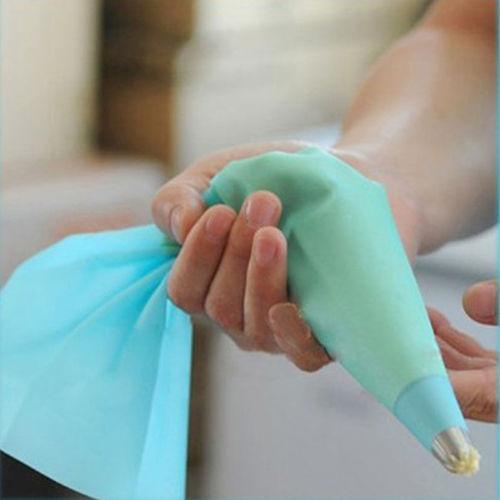 De silicona reutilizable / crema pastelera desechable bolsa de la torta de formación de hielo Tubería de decoración decoradores Bolsas Herramientas Postre
