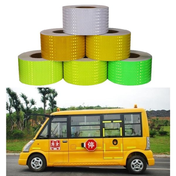 top popular 15CM*45M Super Reflective Car Decoratiive Sticker PVC Reflective Self-adhesive Sheeting Road Traffic Warning Sign Safety Tape 2021