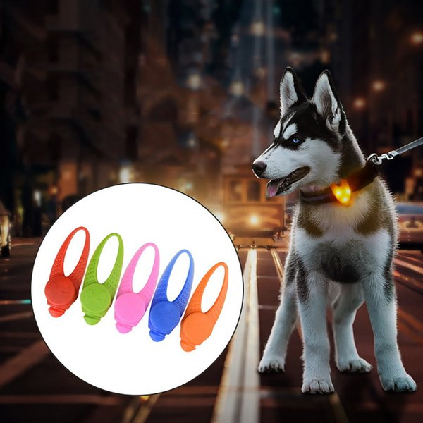 Hoomall 1PC LED Lights Neck Collar For Dogs Cats Decor Colorful Rubber Dog Collar Teddy Chihuahua Leads Pet Accessories