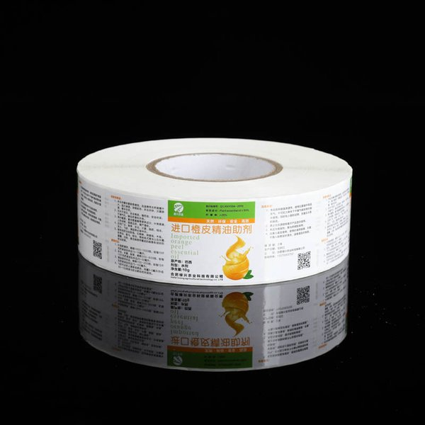 Customized roll package medicine paper adhesive sticker label glossy varnishing medicine bottle sealing label printing new custom label
