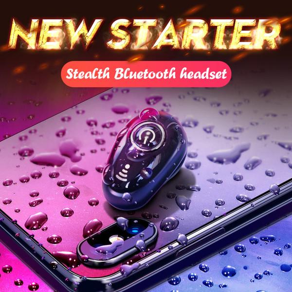 Mini Bluetooth Écouteurs Sans Fil Écouteurs Invisible Casque Mains Libres In-Ear Casque Stéréo avec Micro Pour Téléphone Mobile IOS Android