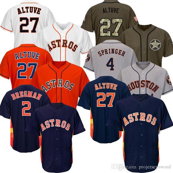 Maglia uomo Houston 2019 Jose Altuve Big Tall Astros taglia XS-6XL Alex Bregman Carlos Correa George Springer Justin Verlander Gerrit Cole