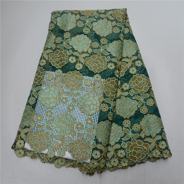 New design polyester and cotton materials african cord laces/ swiss guipure lace fabric dress fabric 30