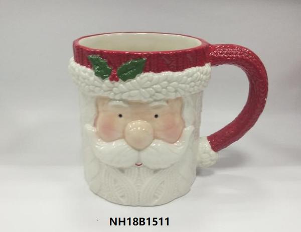 Weihnachtsweihnachtsmann-Schneemannkeramikbecher für Kinder