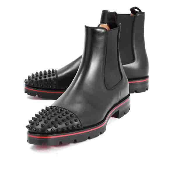 Fashion Top Luxury Men Boots Red Bottom Design Uomo Stivaletti Tacchi bassi Vera pelle scamosciata con rivetti Melone Spikes Flat Short Knight Bo