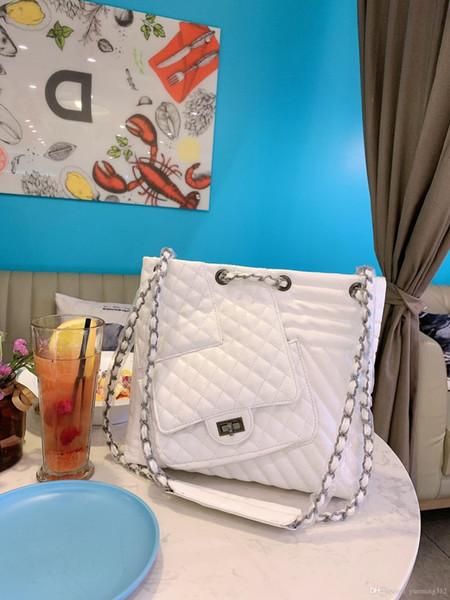 Yeni moda kadınlar Elmas Kafes omuz çantası eğlence patchwork çanta alışveriş çantası üç renk