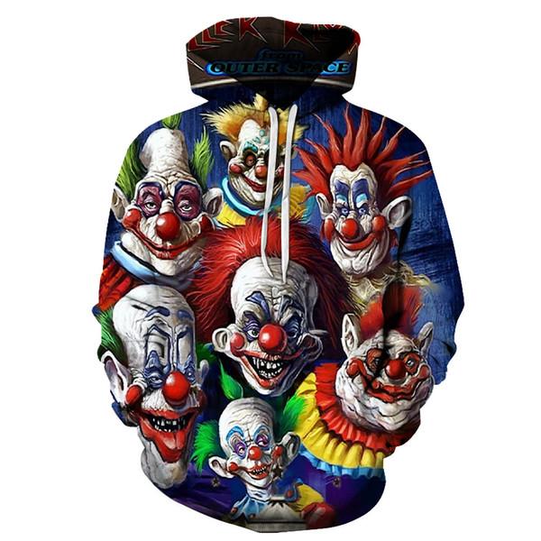 The latest horror clown 3d skeleton sport hoodie sport wear men's printed pullover s-6xl