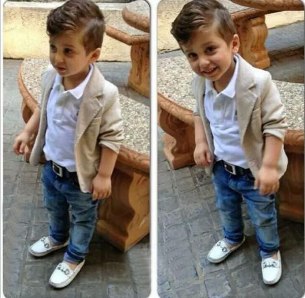 retail Spring Autumn boys 3pcs suit Gentleman Suit Shirt Jackets Jeans Baby Boys Clothes For Kids Designer Childrens Clothing Set