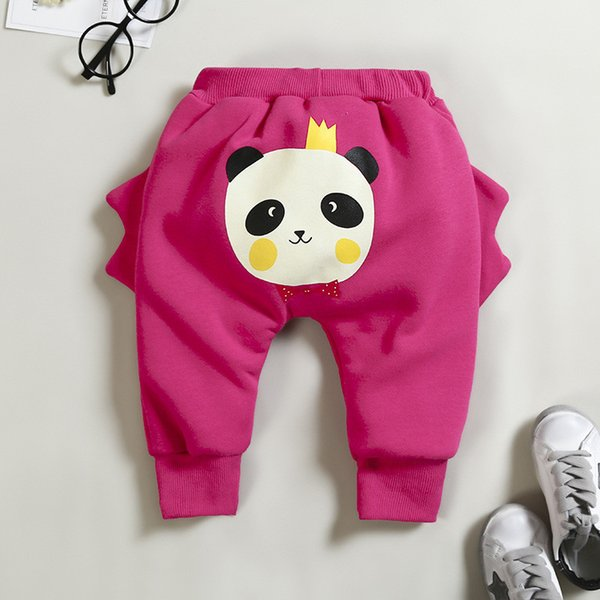good quality Infant Baby Winter Warm Trousers Newborn Baby Autumn Cotton Plus Velvet Pants Bebe Cartoon Thicken Sport Pants Clothing