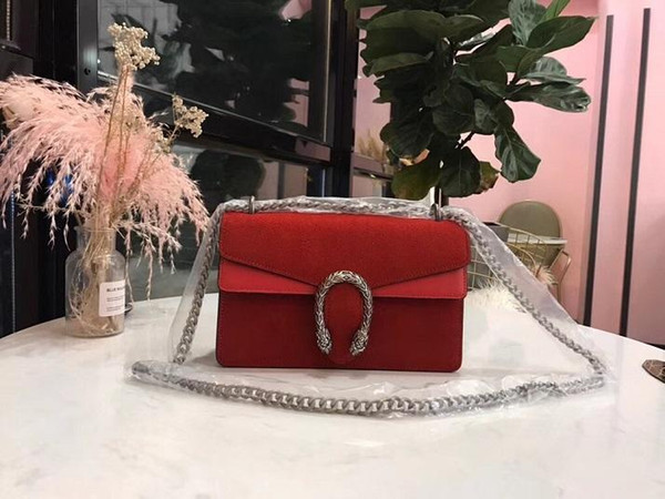 2019 arrival women velvet suede handbags elegant shoulder bag28cm genuine leather fashion contrast colour shoulder bags