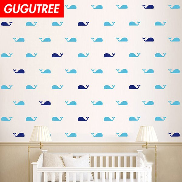 Decorate Home whale cartoon art wall sticker decoration Decals mural painting Removable Decor Wallpaper G-1807