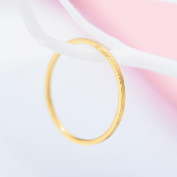 Кольца Zmzy Round Rings Для Женщин Тонкая Нержавеющая Сталь Свадебное кольцо Простота Мода Ювелирные Изделия Оптовая Bijoux 1 мм