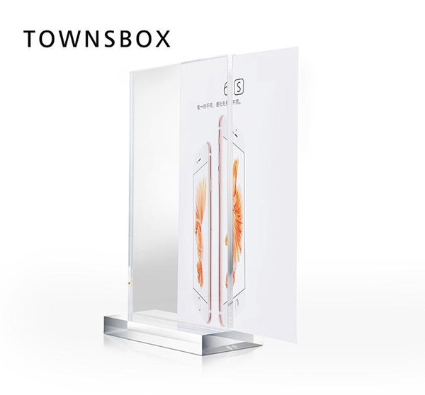 phone Store Advertising Poster Frame A3 Acrylic T Table Sign Holder Desk Banner Display Phone Info Paper Photo Frame Stand