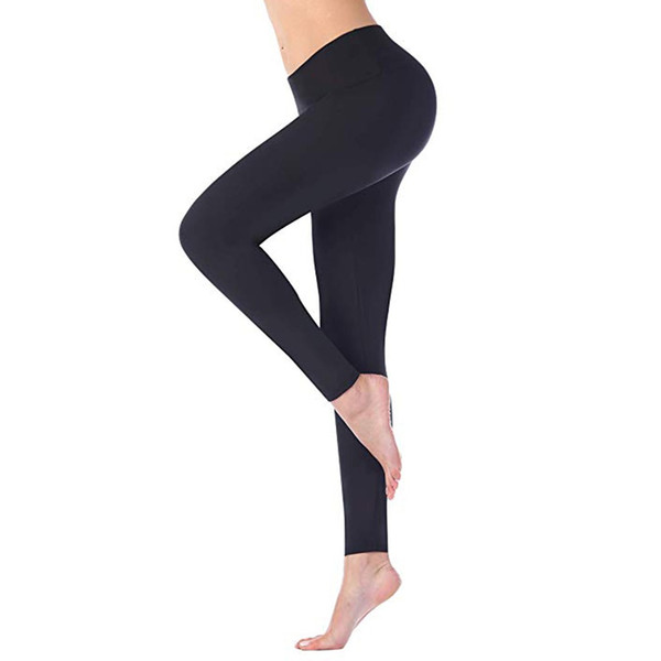 Women Leggings Solid Sportswear Fitness Leggings High Waist Elastic Stretch Pants Seamless Push Up Casual Workout Jeggings #5$