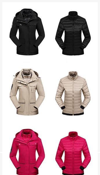Diseñador de la capa del invierno del Mens nueva cara Norte de la chaqueta de lujo de alta calidad pato chaquetas de tres piezas Pareja abajo cubre delgado de la manera Marca Parka2522