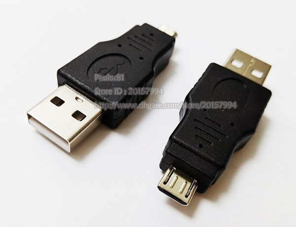 USB 2.0 A Male Plug To Micro-B USB 5 Pin Data Adapter Converter Connector/Free Shipping/50PCS