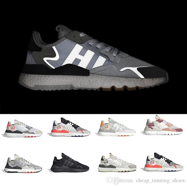 2019 Nite Jogger Boost 3M Reflective unisex running shoes high quality brand breathable sports shoes luxury designer sneakers size EUR36-45