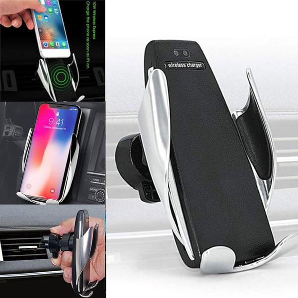 10 W Oto Sıkma Kablosuz Araç Şarj Hava Firar Tutucu 360 Rotasyon iphone Için Huawei akıllı telefon Için Montaj Braketi Şarj