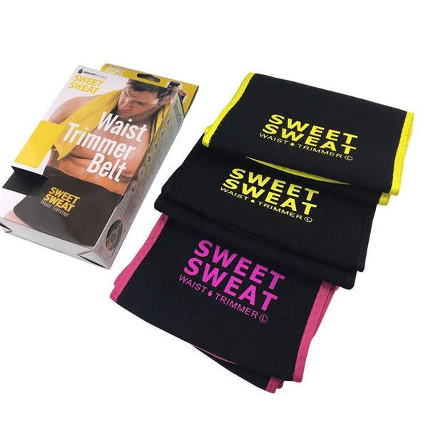 Ready stock Ceinture taille-taille Sweet Sweat Premium pour hommes, femmes, avec boîte de vente au détail (1 taille)