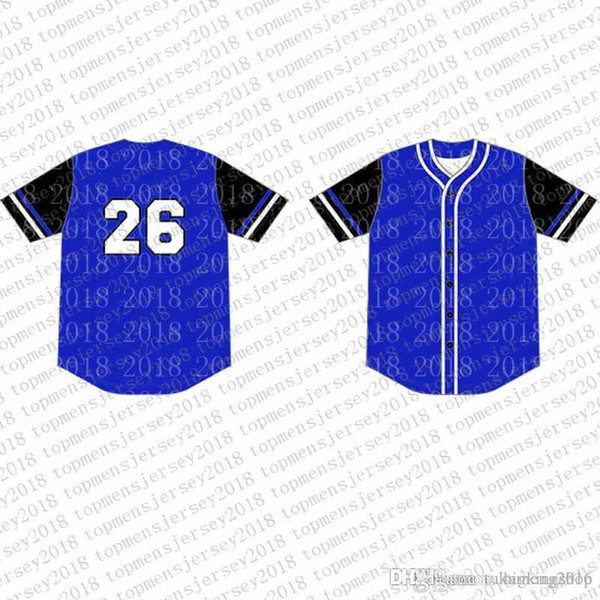 Top Custom Baseball Jerseys Mens Embroidery Logos Jersey Free Shipping Cheap wholesale Any name any number Size M-XXL 69