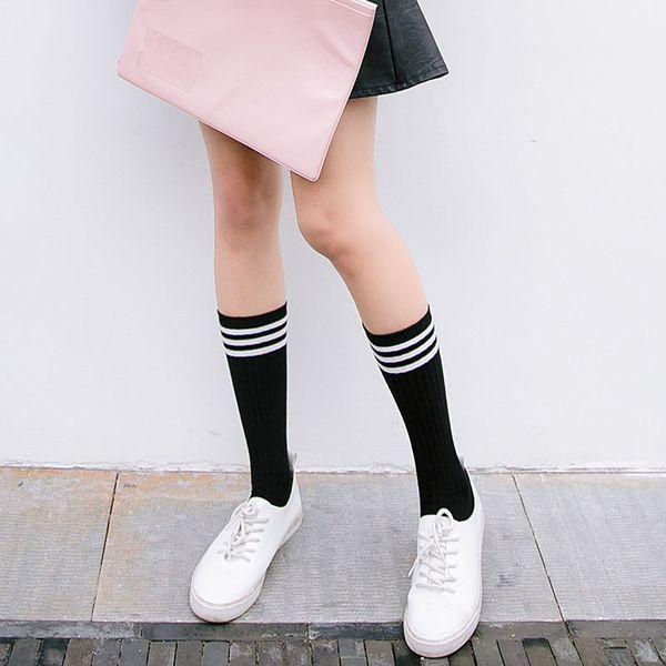 aa427fae5 2019 Women S Socks Hosiery Anime Cosplay Stockings Black White Blue Red  Stripe Stocking Japanese Cartoon Stockings For Women Girls Cotton Long From  App003