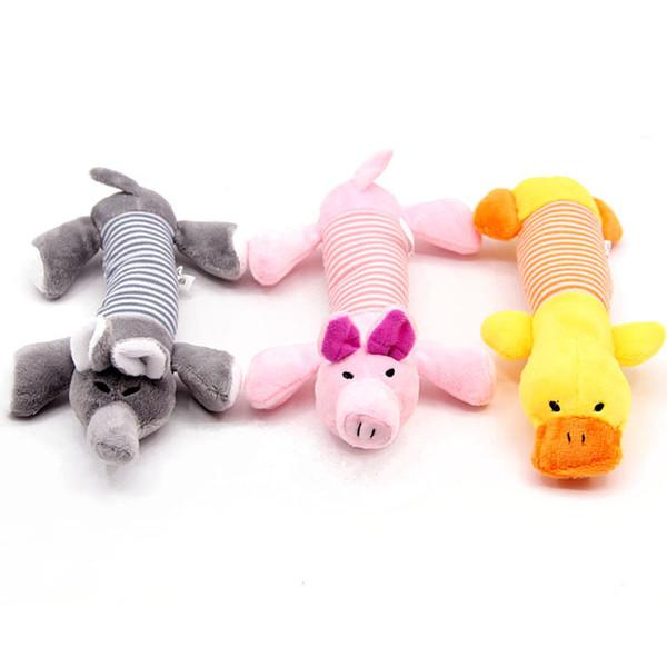 Tiras de quatro patas brinquedos de pelúcia animais listras vocais molares treinamento pet brinquedos interativos