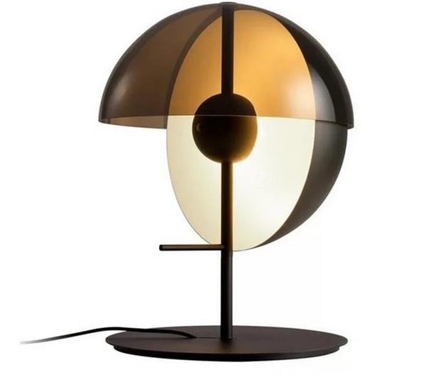 Personalidade De Vidro De Metal Para Bar Sala de estar Estudo Quarto Traseira Moderna Designer Vertical LED Candeeiro de Mesa LLFA