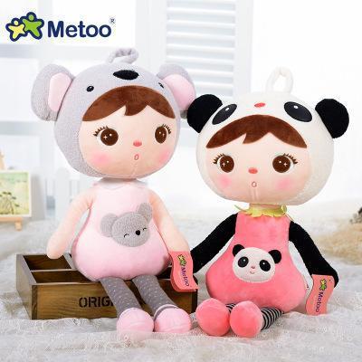 Cute 45cm 22cm kawaii Stuffed Plush Animals Cartoon Kids Toys for Girls Children Boys Kawaii Baby Plush Toys Koala Panda Baby Metoo Doll