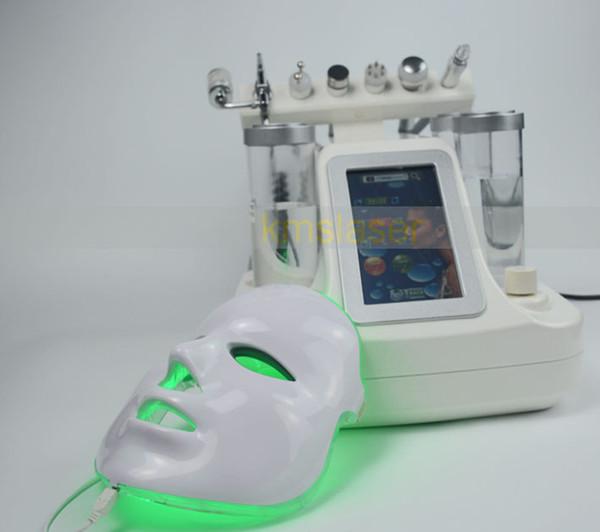 Aqua facial 7 in 1 waterder mabrasion oxygen spray gun ice cooling ultrasonic RF skin tightending deep facial cleansing machine