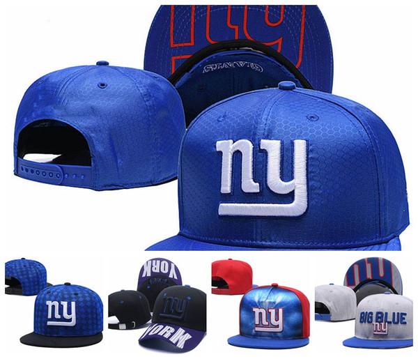 Mujeres y hombres Nueva York Sombrero ajustable Logo de los equipos de gigantes Gorros bordados Gorros tejidos al aire libre gorra deportiva de un tamaño de calidad superior