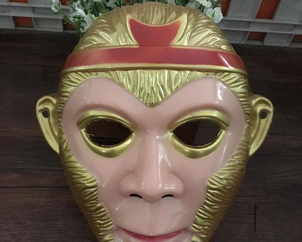 Классический косплей маска культура костюм Хэллоуин обезьяна маски с золотыми волосами китайский стиль праздничные принадлежности