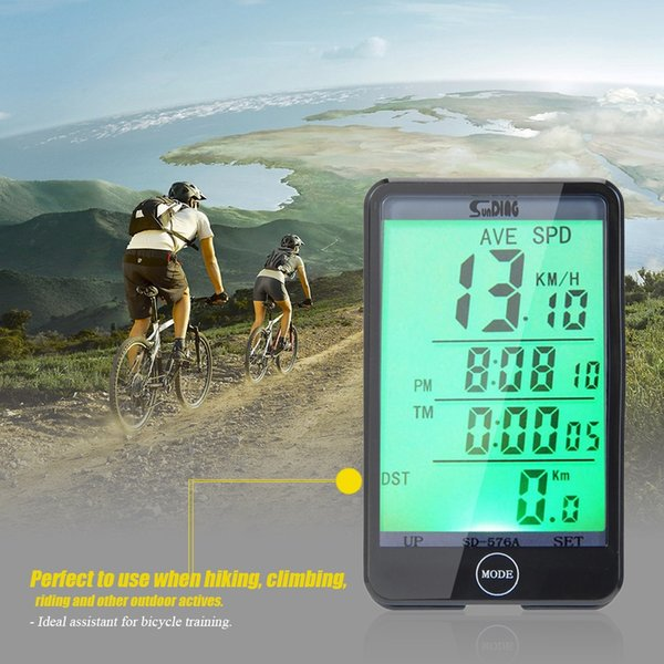 Waterproof Bike Computer Light Touch Wired Bicycle Computer Cycling Speedometer