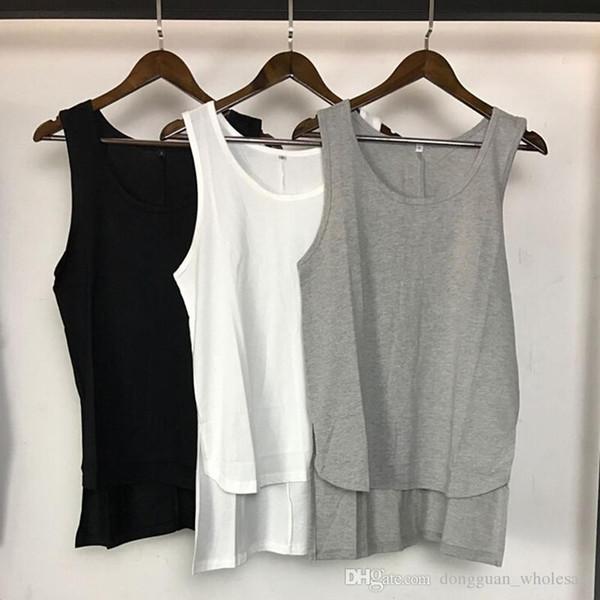 2017 мужчин лето страх Божий дизайн верхней части бака высокого качества Harajuku случайный жилет мужской Justin Bieber рукавов рубашки фитнес Regata