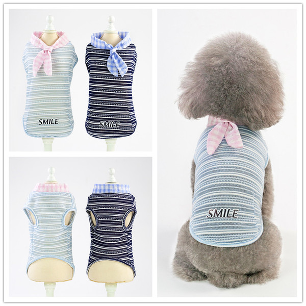 F152 pet dog summer vest pet cotton vest puppy cotton vest cool thin summer T-shirt small pets summer clothes