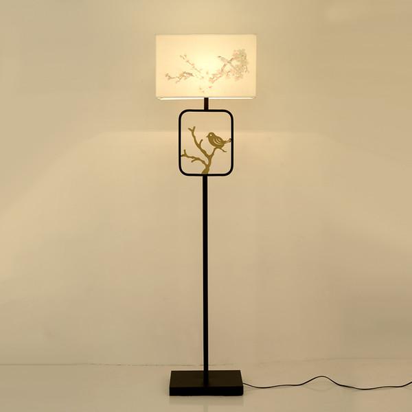 JESS Kumaş Lamba Gölge Zemin Lambaları Avrupa Zemin Ayakta Işıkları Yatak Odası Oturma Odası için Postmodern Yaratıcı Lampara Işık E27