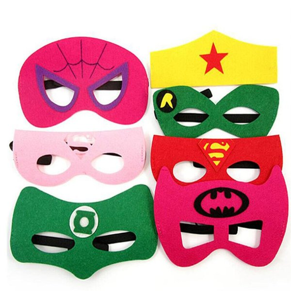 Hot new superhero super hero half face eye mask baby kids children mask masquerade costume party halloween masks birthday gift WCW223