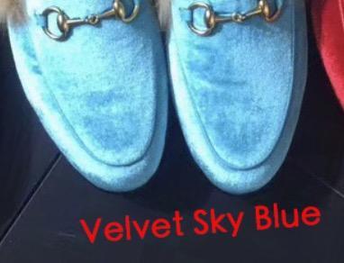 Бархатная Голубой