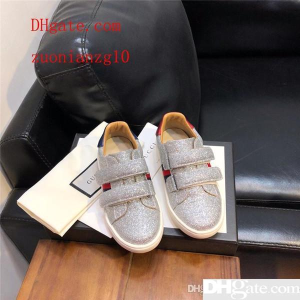 Glitter-Turnschuhe für Mädchen Designer-Schuhe für Kleinkinder Mädchen Echtes Leder Slip on Sneakers Komfortable Qualitätsschuhe für Kleinkinder