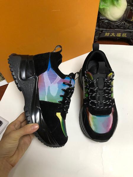 Un 2019 Scarpe casual di lusso alla moda per uomo Donna Beige Nero Scarpe sportive firmate a buon mercato spedizione gratuita wl190707
