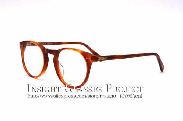Toptan Satış - Vintage optik gözlük çerçevesi OV5256 Sir O'malley yuvarlak gözlükler çerçeve oculos de grau omalley gözlük çerçeveleri